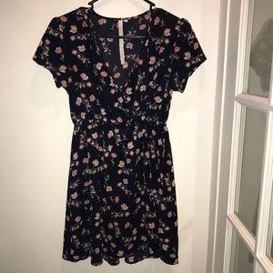 Floral refound mini dress